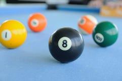Много бассейн-шариков на шерстяной ткани Стоковое фото RF