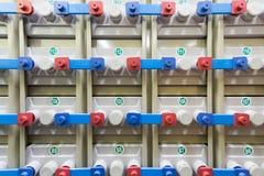 Много батарей в резервной электрической системе Стоковое фото RF