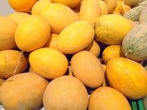 Много больших желтых плодоовощей дынь Стоковая Фотография RF
