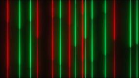 Много вертикальных неоновых линий освещения, абстрактный компьютер произведенный фон, 3D представляют сток-видео