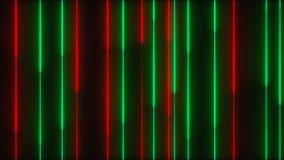 Много вертикальных неоновых линий освещения, абстрактный компьютер произведенный фон, 3D представляют Стоковое Изображение