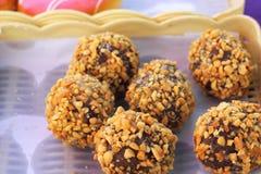 Много вкусные donuts шоколада Стоковые Фото