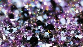 Много гениальных камней драгоценности, роскошная предпосылка сток-видео