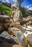 Много гранит трясет на побережье на Сейшельских островах 138 Стоковое Изображение
