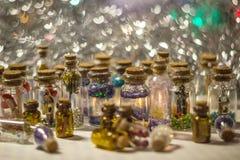 Много декоративных бутылок Стоковое Изображение RF