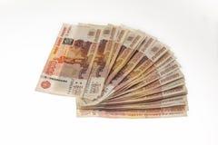 Много деньги - банкноты русских рублей Стоковые Изображения