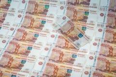 Много деньги - банкноты русских рублей Стоковые Фото