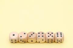 Много деревянной кости Стоковое Изображение