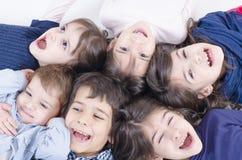 Многодетная семья Стоковое Фото