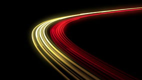многодельная дорога ночи выдержка длиной 4K Loopable сток-видео