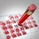 многодельный план-график Стоковая Фотография RF