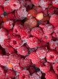 Много замороженных ягод для естественной предпосылки Селективный фокус Стоковые Фотографии RF