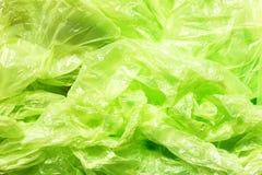 Много зеленая предпосылка полиэтиленового пакета Стоковые Изображения RF