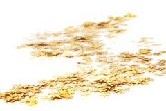 Много золотистых звезд, предпосылка рождества Стоковая Фотография RF