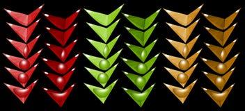 Много из угловых элементов Стоковое фото RF