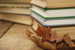 Много книг на таблице Стоковые Изображения RF