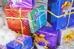 Много коробка подарка рождества Стоковые Изображения RF