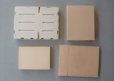 Много коробок на серой предпосылке Стоковые Фотографии RF