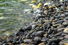 Много красивый камешек с морем Стоковая Фотография RF