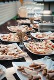 много красивых и очень вкусных комплектов закусок 2 Стоковая Фотография RF