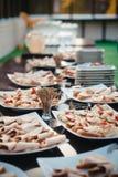 много красивых и очень вкусных комплектов закусок Стоковое Изображение