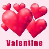Много красных сердец на карточке валентинки Стоковые Изображения