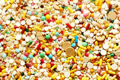 Много красочные медицина и пилюльки Стоковые Фото