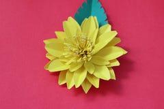 Много красочных бумажных цветков на предпосылке с ровным surfac Стоковая Фотография RF