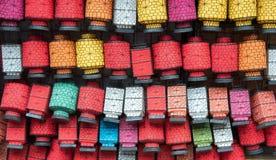 Много красочных китайских фонариков, Китай стоковые изображения