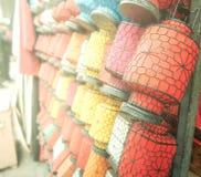 Много красочных китайских фонариков, Китай стоковое изображение
