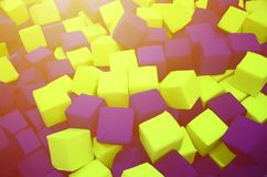 Много красочных мягких блоков в kids& x27; ballpit на спортивной площадке Стоковое Изображение RF