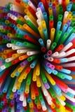 Много красочных солом для пить Стоковое фото RF