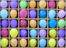 Много красочных baloons воздуха в отдельных коробках Стоковая Фотография RF