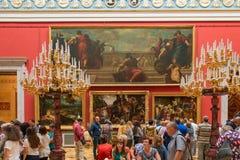 Много людей посещают музей обители положения стоковое фото rf