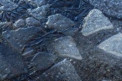 Много малых треснутых ледниковых щитов Стоковые Изображения RF