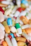 Много медицина и пилюльки стоковое изображение rf