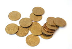 Много монеток одно hryvnia Украина Стоковое Фото