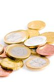 Много некоторые монетки евро Стоковые Фотографии RF