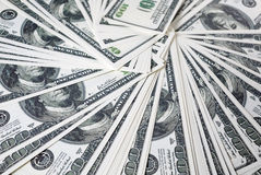 Много 100 долларовых банкнот Стоковая Фотография