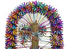 Много пестротканых ветрянок на продаже, Индия игрушки Стоковое Фото