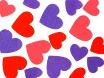 Много покрашенных форм сердца стоковая фотография rf