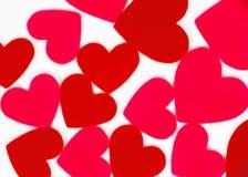 Много покрашенных форм сердца стоковое фото rf
