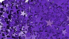 Много политые светя фиолетовые звезды бесплатная иллюстрация