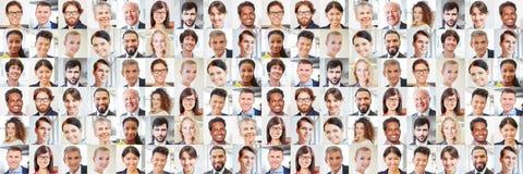 Много портретов бизнесменов как международная команда Стоковая Фотография