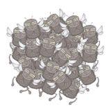 Много притяжка мухы Стоковое Фото