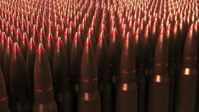 Много пуль Война, боеприпасы, концепции агрессии перевод 3d Стоковые Изображения RF
