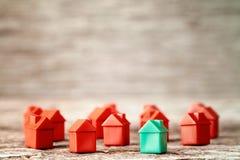 Много пластичных домов игрушки Стоковые Изображения RF