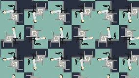 Много работники печатая на компьютерах акции видеоматериалы