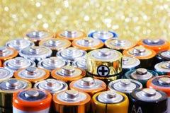 Много различных батарей Стоковые Фотографии RF