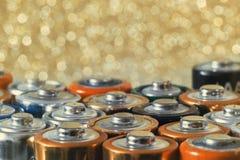 Много различных батарей Стоковое Изображение RF